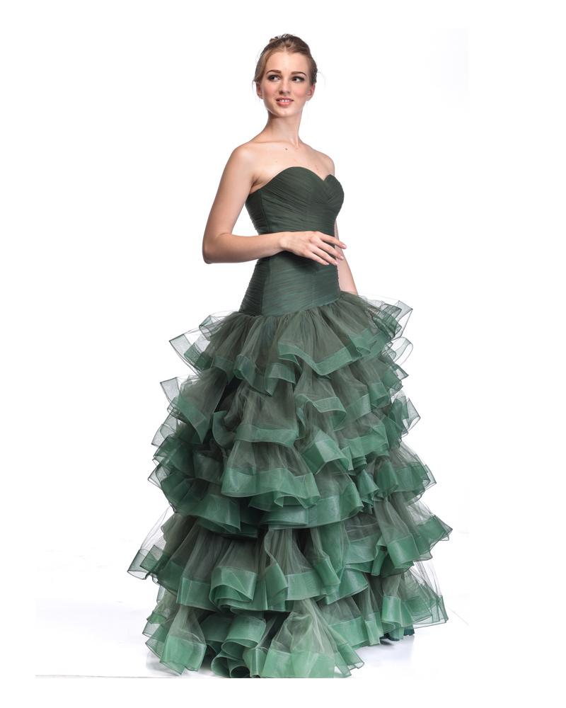 Veronique Emerald Ruffle